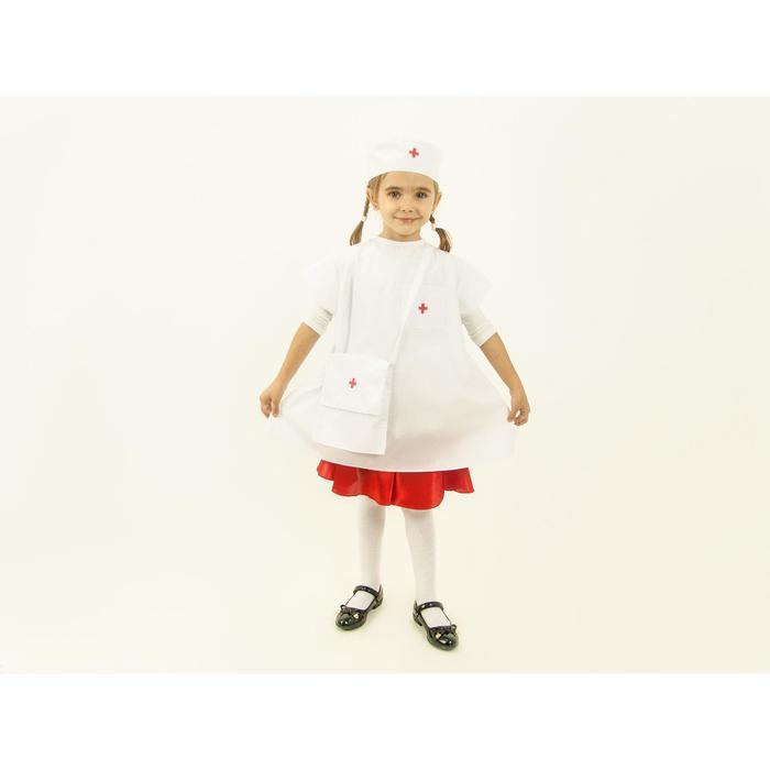 """Карнавальный костюм """"Маленький доктор"""", халат, шапочка, сумка, рост 110-128 см"""