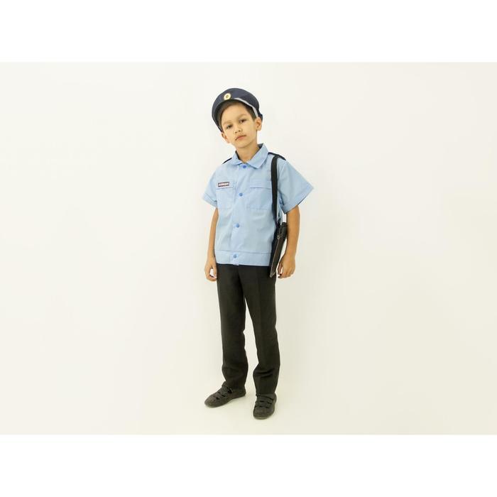 """Карнавальный костюм """"Полицейский"""", рубашка, фуражка, кобура, рост 110-128 см"""