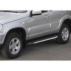 Пороги Premium Chevrolet Niva 2002-2009-, нерж. сталь 160 см, 2 шт. A160ALP.1001.2