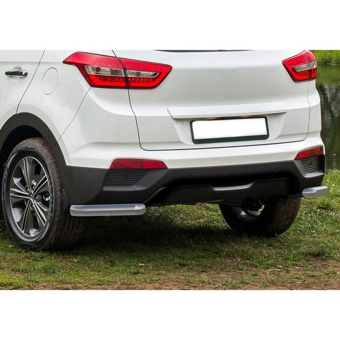 Защита заднего бампера Hyundai Creta, d57 уголки