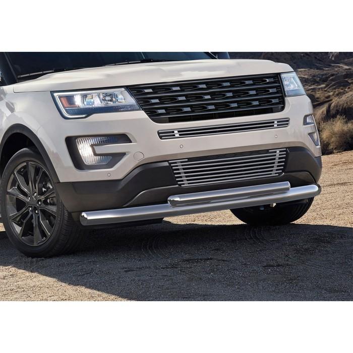 Защита переднего бампера Ford Explorer 2015-, d76+d57
