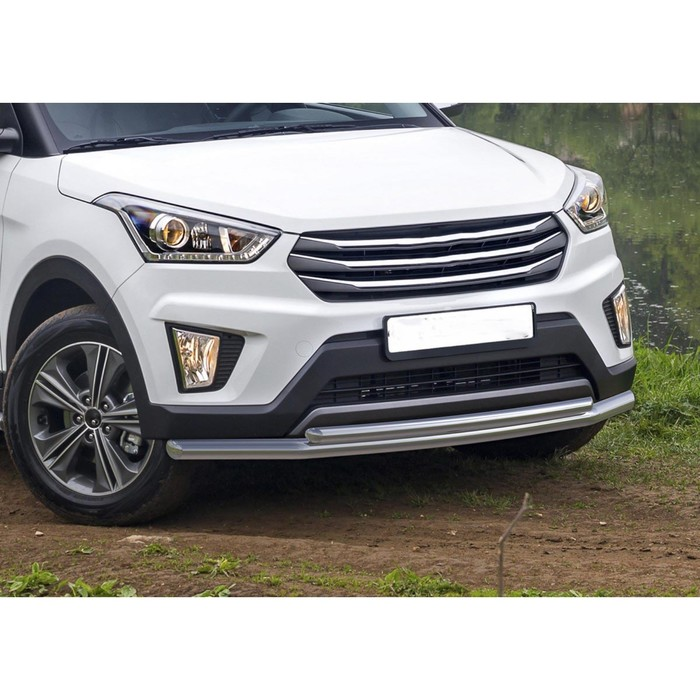 Защита переднего бампера Hyundai Creta, d57+d42