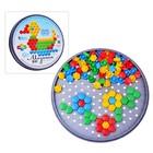 Мозаика шестигранная, 85 элементов (круглая пласт.коробка)