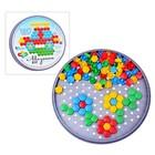Мозаика шестигранная, 120 элементов (круглая пласт.коробка) - фото 697097