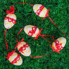 "Сувенир ""Пасхальная гирлянда"", красная вышивка (6 яиц)"