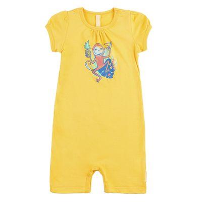 """Песочник для девочки """"Обезьянка"""", рост 68 см, цвет жёлтый 131-003-10"""
