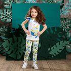 Брюки для девочки, рост 110 см, цвет белый 131-017-04