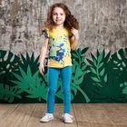 Брюки для девочки, рост 104 см, цвет синий 131-017-08