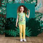 Брюки для девочки, рост 104 см, цвет светло-жёлтый 131-017-15