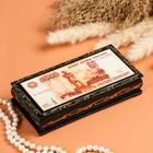 Шкатулка - купюрница «5000 рублей», 8,5×17 см, лаковая миниатюра