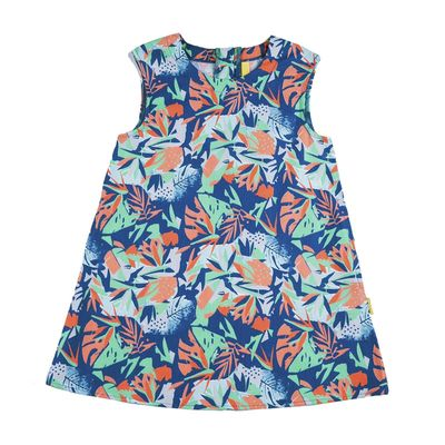 Платье для девочки, рост 116 см, цвет синий 131-019-19