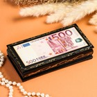 Шкатулка - купюрница «500 EURO», 8,5×17 см, лаковая миниатюра