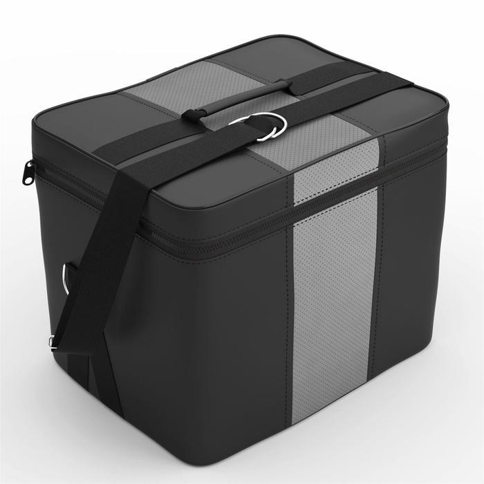 Автомобильная сумка, экокожа, чёрно-серая