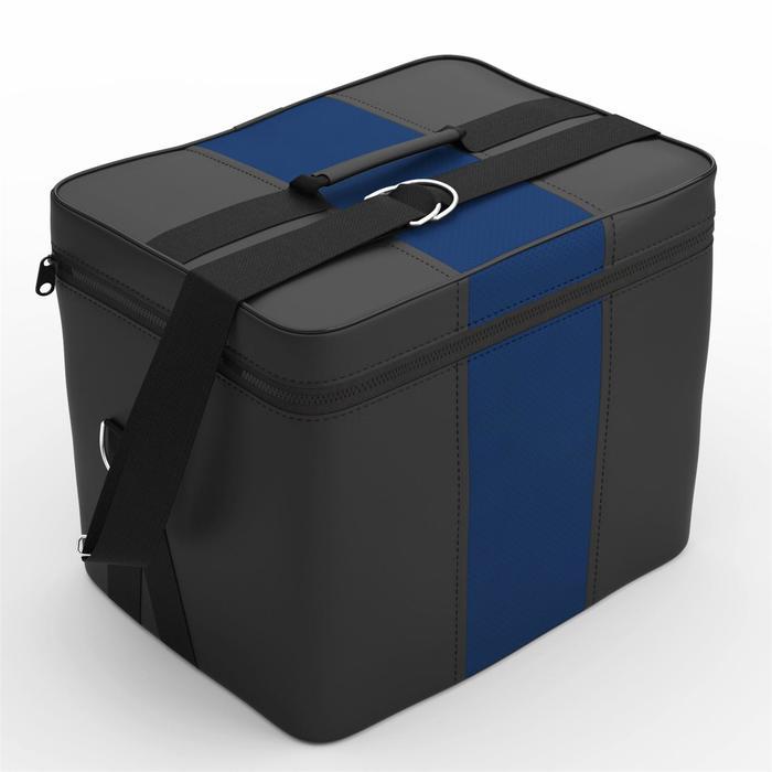 Автомобильная сумка, экокожа, чёрно-синяя
