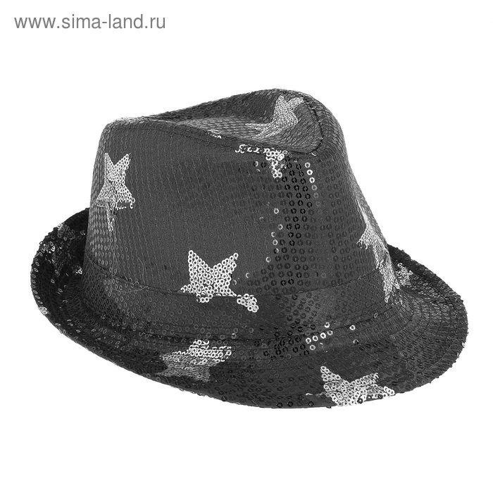 """Шляпа """"Диджей"""", со звёздами, блеск, цвета МИКС"""