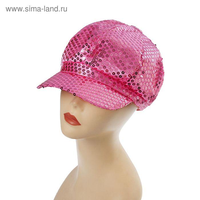 Фуражка блеск розовая