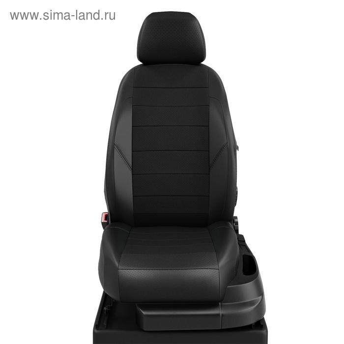 Авточехлы для Citroen C4 1 с 2004-2012г. хэтчбек 5дв Задняя спинка 40 на 60, сиденье единое, 5 подголовников, экокожа, чёрная