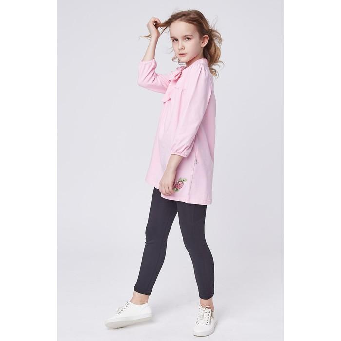 """Джемпер для девочки """"Романс"""", рост 128 см, цвет розовый, принт роза"""