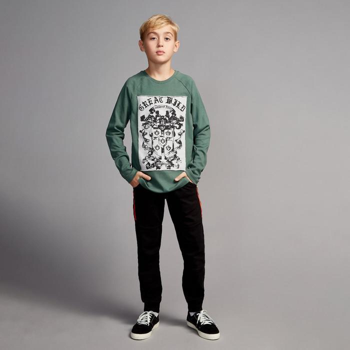 Лонгслив для мальчика «Легенда», рост 116 см, цвет тёмно- зелёный, принт герб с щитом