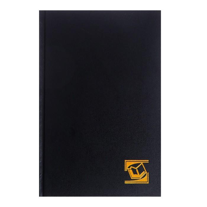 Ежедневник недатированный А5, 128 листов, бумвинил, черный - фото 370893077