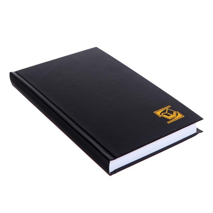 Ежедневник недатированный А5, 128 листов, бумвинил, черный - фото 370893078
