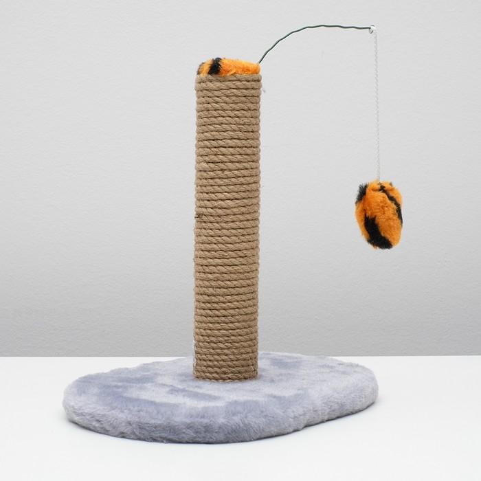 Когтеточка для котят на подставке, 30 х 24 х 35 см, джут, микс цветов