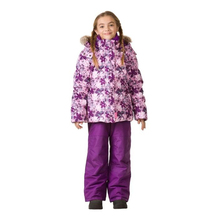 Комплект зимний (куртка, полукомбинезон) для девочки, рост 100 см, розовый
