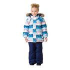 Комплект зимний (куртка, полукобинезон) для девочки, рост 98 см, цвет синий W17350