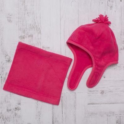 Комплект зимний для девочки (шапка и шарф-снуд), размер 48, цвет розовый W47102 _М