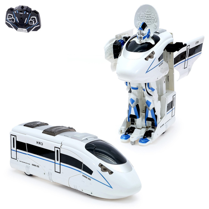 Робот-трансформер радиоуправляемый TRAINBOT, с аккумулятором, заряд от USB