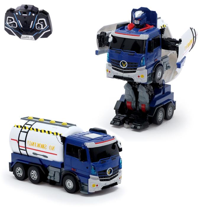Робот-трансформер радиоуправляемый «Бензовоз», световые и звуковые эффекты, работает от аккумулятора