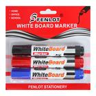 A set of markers for whiteboard, 3 colors, 3 mm, blister