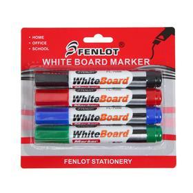Набор маркеров для флипчарта, 4 цвета, 3 мм, на блистере