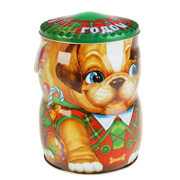 "Подарочная коробка ""Бульдожка"" 15,3 х 15,3 см"