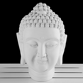 Gypsum figure. Buddha Head