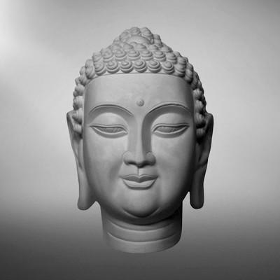 Гипсовая фигура. Голова Будды «Мастерская Экорше», 31 х 20.5 х 44 см