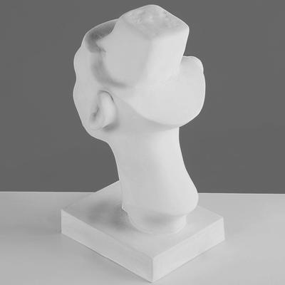 Гипсовая фигура, Голова Нефертити (стилизованная) «Мастерская Экорше», 17х17х30 см