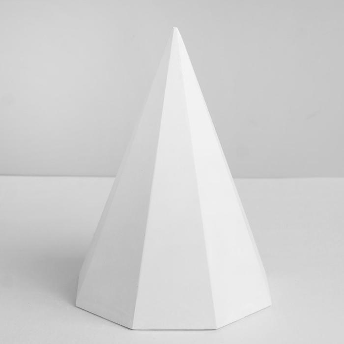 Геометрическая фигура, Пирамида 8-гранная «Мастерская Экорше», 20 см (гипсовая)