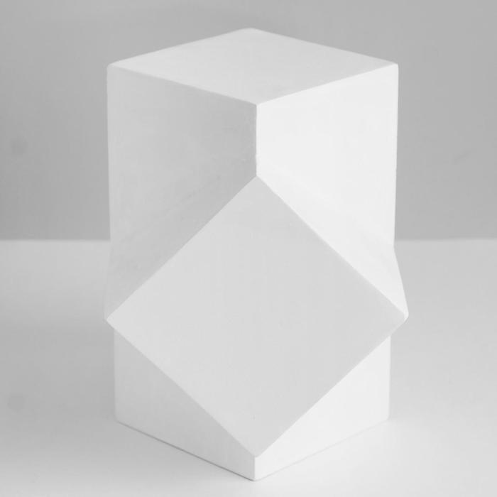 Геометрическая фигура, сечение параллелепипедов «Мастерская Экорше», 20 см (гипсовая)