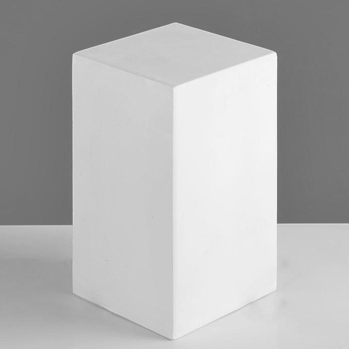 Геометрическая фигура, призма 4-гранная «Мастерская Экорше», 20 см (гипсовая)