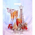"""Пакет """"Новогодняя неожиданность"""", полиэтиленовый с вырубной ручкой, 45 х38 см, 60 мкм"""