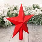 Наконечник звезда 20 см красная матовая