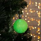 """Игрушка световая """"Елочный шар"""" (батарейки в комплекте) 6 см, 1 LED, RGB, ЗЕЛЕНЫЙ"""