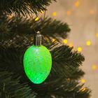 "Игрушка световая ""Шишка на елку"" (батарейки в комплекте) 6 см, 1 LED, RGB, ЗЕЛЕНЫЙ"
