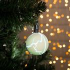 """Игрушка световая """"Елочный шар узоры краской"""" 5 см, 1 LED, RGB, ЖЕЛТЫЙ"""
