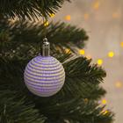 """Игрушка световая """"Елочный шар ребристый"""" (батарейки в комплекте) 5 см, 1 LED, RGB, САЛАТОВЫЙ"""