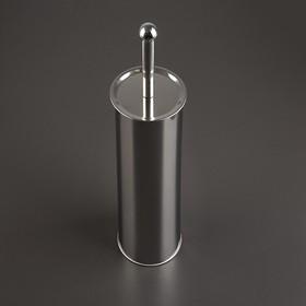 Ёрш для унитаза с подставкой, 9,5×9,5×38 см, цвет хром