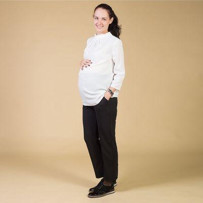 Брюки классические для беременных, размер 46-48 (XL), цвет чёрный