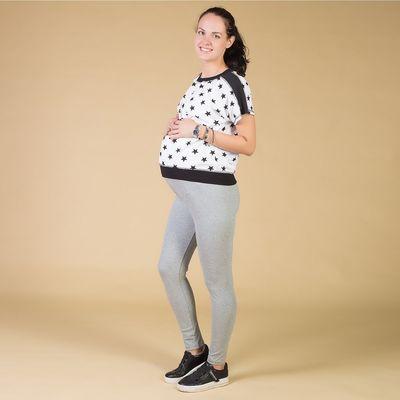 Легинсы для беременных, размер 44-48 (М-L), цвет серый
