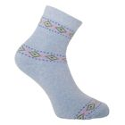 Носки женские махровые, цвет голубой, размер 23